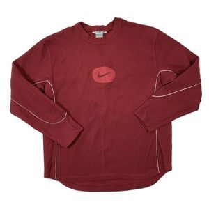 Vintage 90's Nike Crew Neck - Red - XL Sweater